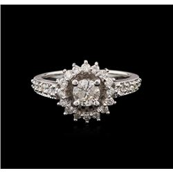 14KT White Gold 1.04 ctw Diamond Ring