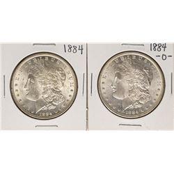 Lot of 1884 & 1884-O $1 Morgan Silver Dollar Coins