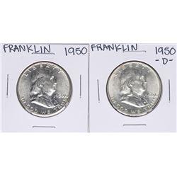 Lot of 1950 & 1950-D Franklin Half Dollar Coins