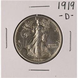 1919-D Walking Liberty Half Dollar Coin