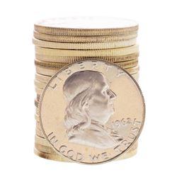 Roll of (20) Proof 1962 Franklin Half Dollar Coins