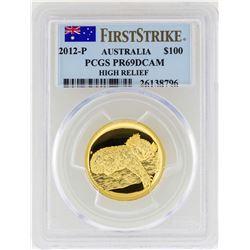 2012-P Australia $100 Koala High Relief Gold Coin PCGS PR69DCAM