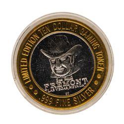 .999 Fine Silver Sam Boyd's Fremont Las Vegas, NV $10 Limited Edition Gaming Tok