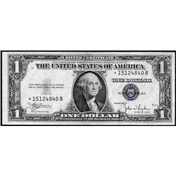 1935C $1 Silver Certificate Star Note