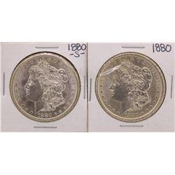 Lot of 1880 & 1880-S $1 Morgan Silver Dollar Coins