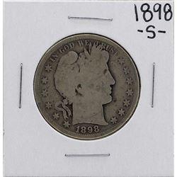 1898-S Barber Half Dollar Coin