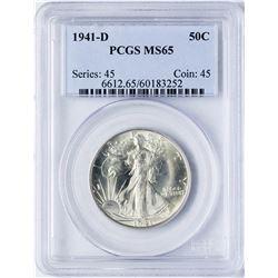 1941-D Walking Liberty Half Dollar Coin PCGS MS65