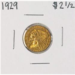 1929 $2 1/2 Indian Head Quarter Eagle Gold Coin