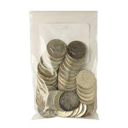 Bag of (50) 1964 Silver Kennedy Half Dollar Coins - $25 Face Value