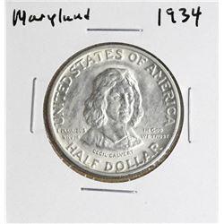 1934 Maryland Tercentenary Commemorative Half Dollar Coin
