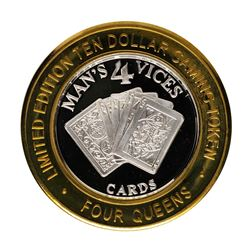 .999 Fine Silver Four Queens Casino Las Vegas $10 Limited Edition Gaming Token