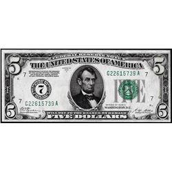 1928A $5 Federal Reserve Note Chicago