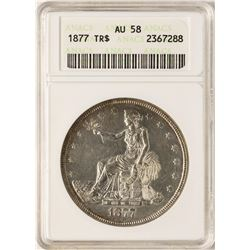 1877 $1 Trade Silver Dollar Coin ANACS AU58