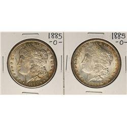 Lot of (2) 1885-O $1 Morgan Silver Dollar Coins