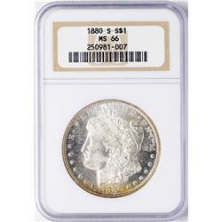 1880-S $1 Morgan Silver Dollar Coin NGC MS66 AMAZING TONING