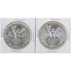 Lot of (2) 1982Mo Mexico Silver Libertad Coins