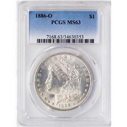 1886-O $1 Morgan Silver Dollar Coin PCGS MS63