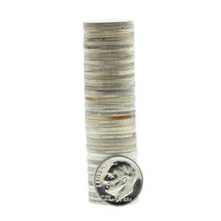 Roll of (50) 1964 Proof Roosevelt Dime Coins