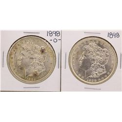 Lot of 1898 & 1898-O $1 Morgan Silver Dollar Coins