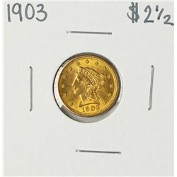 1903 $2 1/2 Liberty Head Quarter Eagle Gold Coin
