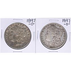Lot of (2) 1897-O $1 Morgan Silver Dollar Coins