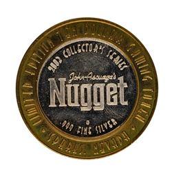 .999 Fine Silver John Ascuaga's Nugget Sparks, NV $10 Limited Edition Gaming Tok