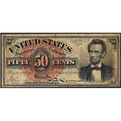 March 3, 1863 50 Cents Fourth Issue Lincoln Fractional Currency Note