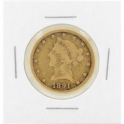 1891-CC $10 Liberty Head Eagle Gold Coin