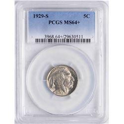 1929-S Buffalo Nickel Coin PCGS MS64+