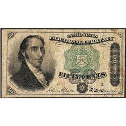 March 3, 1863 Fifty Cents Fourth Issue Fractional Currency Note