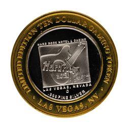 .999 Fine Silver Hard Rock Hotel & Casino Las Vegas $10 Limited Edition Gaming T