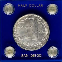 1936-D San Diego Commemorative Half Dollar Coin