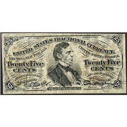 March 3, 1863 Twenty-Five Cents Third Issue Fractional Currency Note