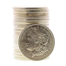 Roll of (20) Brilliant Uncirculated 1921 $1 Morgan Silver Dollar Coins