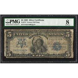 1899 $5 Chief Silver Certificate Note Fr.274 PMG Very Good 8