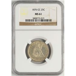 1876-CC Seated Liberty Quarter Coin NGC MS61