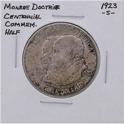 1923-S Monroe Doctrine Commemorative Half Dollar Silver Coin