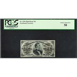 March 3, 1863 Third Issue 25 Cent Fractional Currency Note Fr.1294 PCGS Choice A