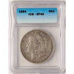 1894 $1 Morgan Silver Dollar Coin ICG XF40