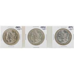 Lot of 1889-O to 1891-O $1 Morgan Silver Dollar Coins