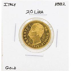 1882 Italy 20 Lira Gold Coin