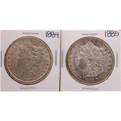 Lot of 1884-1885 $1 Morgan Silver Dollar Coins