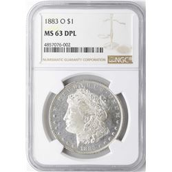 1883-O $1 Morgan Silver Dollar Coin NGC MS63DPL