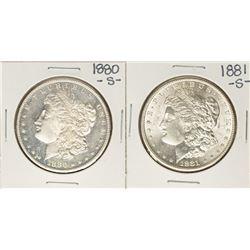 Lot of 1880-S -1881-S $1 Morgan Silver Dollar Coins