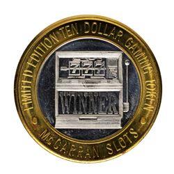 .999 Silver McCarran International Airport Las Vegas, NV $10 Limited Gaming Toke