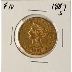 1887-S $10 Liberty Head Eagle Gold Coin