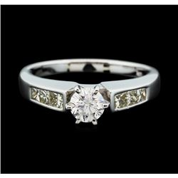 14KT White Gold 1.03 ctw Diamond Ring