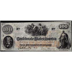 1862 $100 Confederate States of America Note