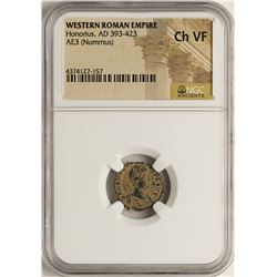 Honorius, 393-423 AD Ancient Western Roman Empire Coin NGC Ch VF