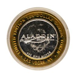 .999 Fine Silver Aladdin Resort & Casino Las Vegas $10 Limited Edition Gaming To